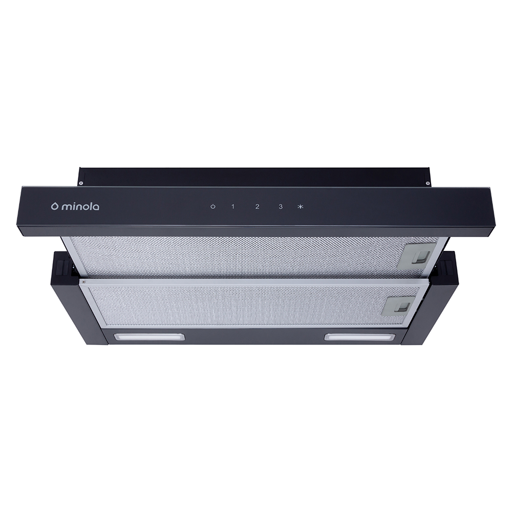 Telescopic hood Minola HTLS 6235 BL 700 LED