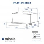 Telescopic hood Minola HTL 6914 I 1300 LED