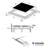 Glass ceramic surface Minola MVH 6232 GBL