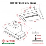 Fully built-in hood Perfelli BISP 7873 WH LED Strip GLASS