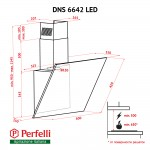 Decorative inclined hood Perfelli DNS 6642 WH LED