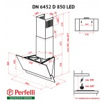 Decorative inclined hood Perfelli DN 6452 D 850 WH LED