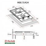 Gas Surface Domino On Glass Perfelli HGG 31424 IV