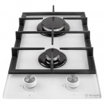 Gas surface Domino on glass Perfelli HGG 31424 WH