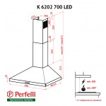 Dome Hood Perfelli K 6202 WH 700 LED