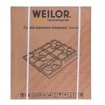 Gas surface on metal WEILOR GM W604 SS