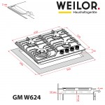 Gas surface on metal WEILOR GM W 624 SS