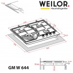 Gas surface on metal WEILOR GM W 644 WH