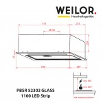 Hood Fully Built-in WEILOR PBSR 52302 GLASS FBL 1100 LED Strip