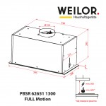 Hood fully built-in WEILOR PBSR 62651 WH 1300 FULL Motion