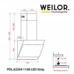 Hood decorative inclined WEILOR PDL 62304 BL 1100 LED Strip