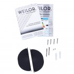 Hood telescopic WEILOR PTS 9265 WH 1300 LED Strip