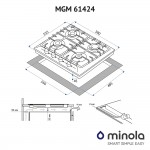 Combined surface on metal Minola MGM 61424 BL