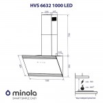 Decorative hood Minola HVS 6632 BL 1000 LED