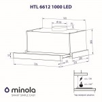 Telescopic hood Minola HTL 6612 WH 1000 LED