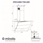 Decorative hood Minola HVS 6382 BL 750 LED
