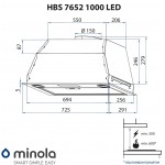 Fully built-in hood Minola HBS 7652 WH 1000 LED