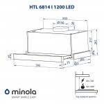 Telescopic hood Minola HTL 6814 WH 1200 LED