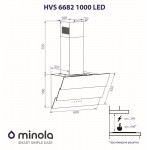Decorative hood Minola HVS 6682 WH 1000 LED