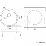 Kitchen sink granite Minola MRG 1045-50 Classic