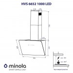 Decorative hood Minola HVS 6652 WH 1000 LED
