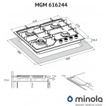 Gas Surface On Metal Minola MGM 616224 BL