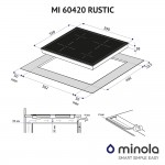 Induction surface Minola MI 60420 GBL RUSTIC
