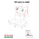 Hood decorative T-shaped Perfelli TET 6612 A 1000 BL LED
