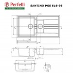 Granite kitchen sink Perfelli SANTINO PGS 516-96 WHITE