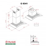 Decorative Hood With Glass Perfelli G 6341 I