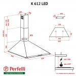 Hood dome Perfelli K 612 IV LED