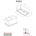 Fully built-in Hood Perfelli BI 6812 BL LED
