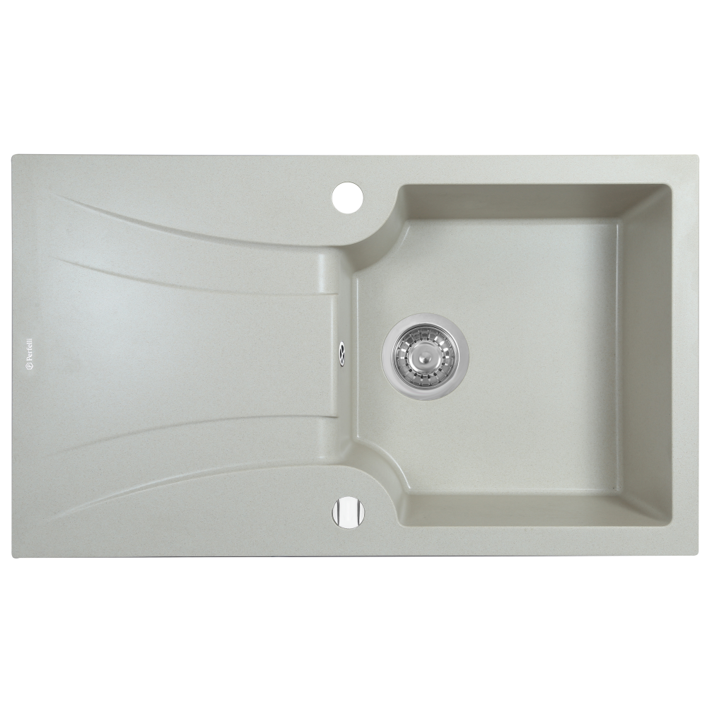 Granite kitchen sink Perfelli FELICINETTO PGF 114-78 LIGHT BEIGE