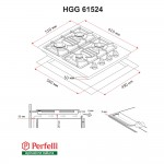 Gas Surface On Glass Perfelli HGG 61524 BL