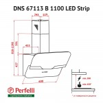 Decorative Incline Hood Perfelli DNS 67113 B 1100 BL LED Strip