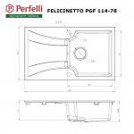 Granite kitchen sink Perfelli FELICINETTO PGF 114-78 WHITE