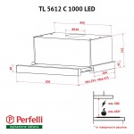 Telescopic hood Perfelli TL 5612 C WH 1000 LED