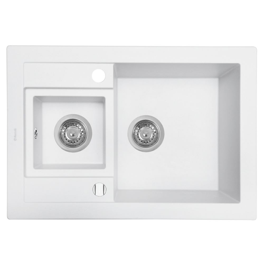 Granite kitchen sink Perfelli GRANZE PGG 506-67 WHITE
