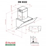 Decorative Incline Hood Perfelli DN 6322 W LED