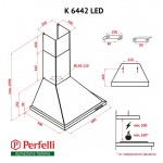 Dome Hood Perfelli K 6442 BL LED