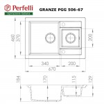 Granite kitchen sink Perfelli GRANZE PGG 506-67 SAND