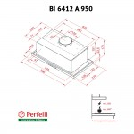 Fully built-in Hood Perfelli BI 6412 A 950 I LED