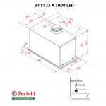 Fully built-in Hood Perfelli BI 8522 A 1000 I LED