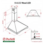 Dome Hood Perfelli K 6122 BL Wood LED
