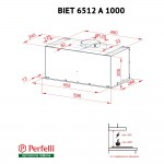Fully built-in Hood Perfelli BIET 6512 A 1000 BL LED