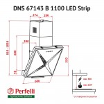 Decorative Incline Hood Perfelli DNS 67143 B 1100 BL LED Strip