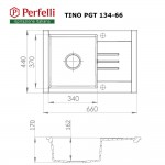 Granite kitchen sink Perfelli TINO PGT 134-66 LIGHT BEIGE