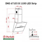 Decorative Incline Hood Perfelli DNS 67103 B 1100 BL LED Strip