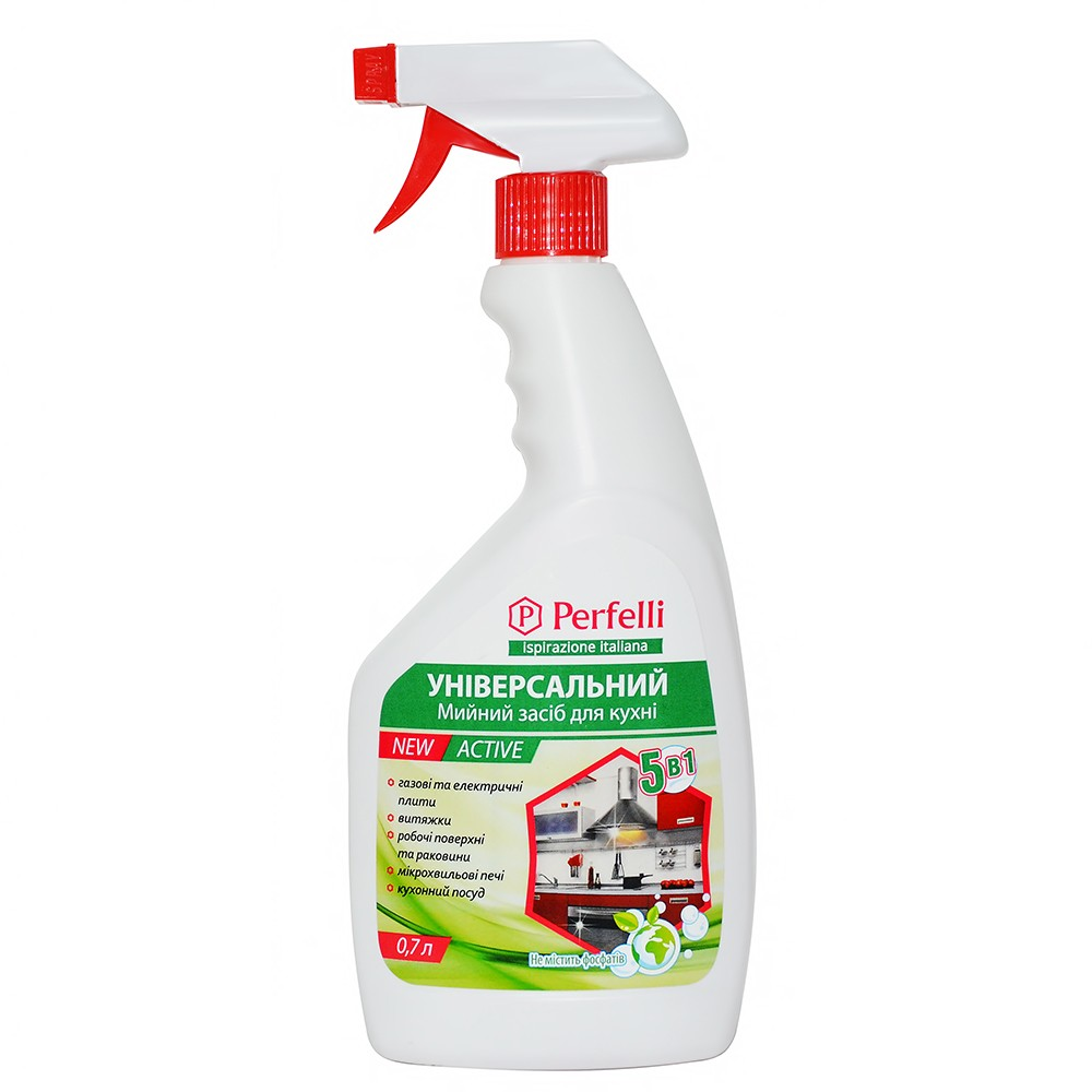 Universal detergent for the kitchen 5 in 1