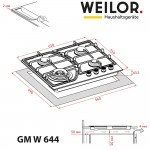 Gas surface on metal WEILOR GM W 644 SS